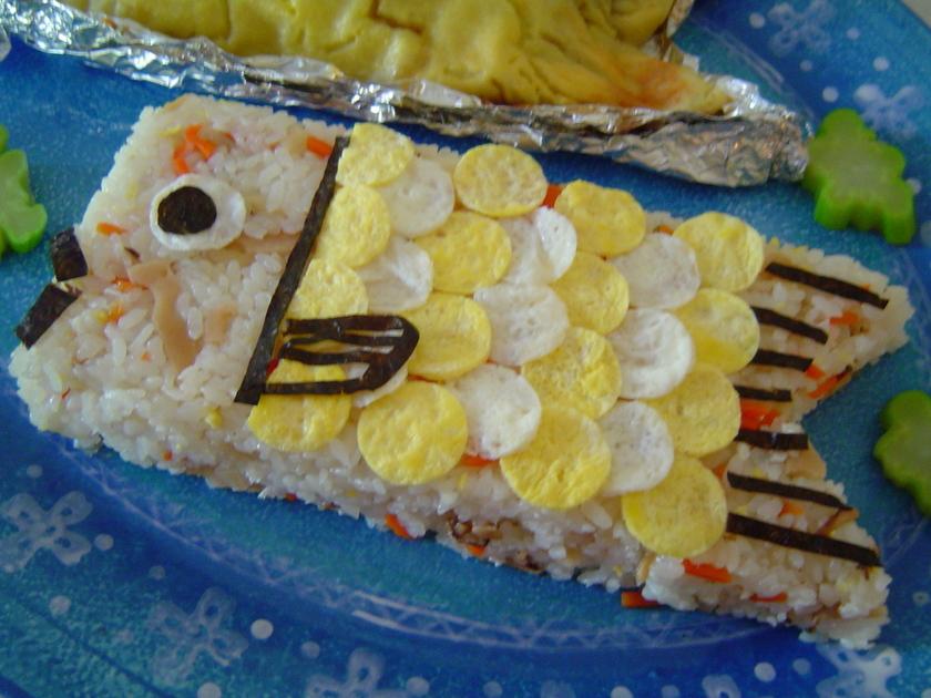 ちらし寿司でお遊び 鯉のぼり&ケーキ型