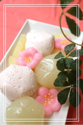 雛祭りのデザートに♪桃のムース&ゼリー