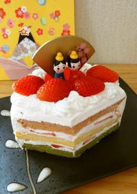 ひなまつり*3色いちごショートケーキ