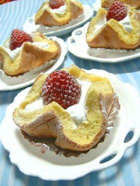 ふんわり*かわいい苺ざくろケーキ♪