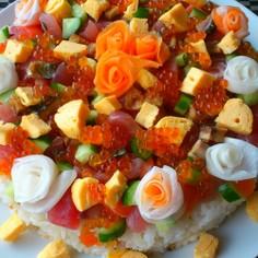 お祝い☆おもてなし☆彩り海鮮ちらし寿司★