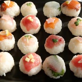 親子で♡ひな祭りの可愛い手まり寿司