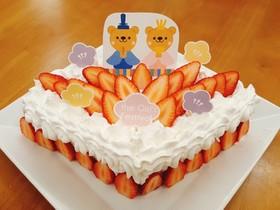 丸型スポンジで作るひし形ひなまつりケーキ
