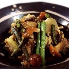 山菜の水煮の胡麻和え