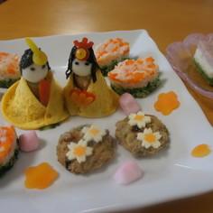 ひし餅パンケーキ 雛祭り 離乳食~幼児食