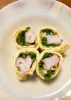 お弁当に☆カニカマと水菜のマヨ卵巻き☆