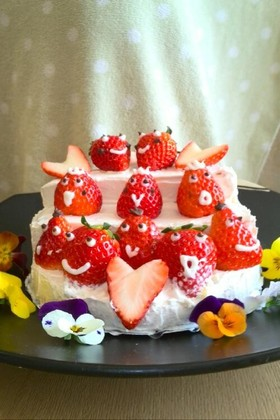 *ひな祭り*簡単!おひなさまケーキ♪