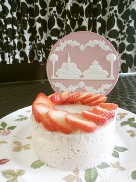 簡単♡苺レアチーズケーキ