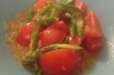 さわやか☆トマトとアスパラガスのサラダ
