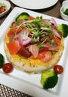 ひな祭り♪海鮮ちらし寿司ケーキ