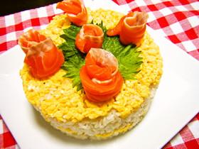 ケーキ型de彩り綺麗な押し寿司♡