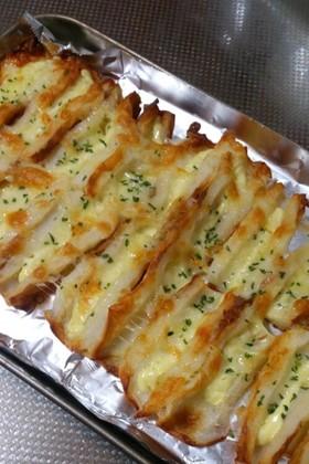 簡単に1品♪ちくわのチーズ焼き