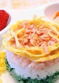 ひし餅色の3色ご飯❀お雛様離乳食