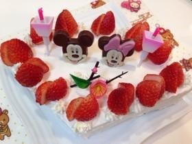 ミッキー&ミニーひな祭りケーキ…♩