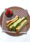 厚焼き卵とチーズのサンドイッチ