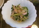 うちの夕飯 しらたきの中華風サラダ