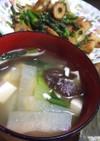 我が家の定番★大根と豆腐の味噌汁♪