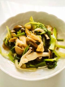 ☺簡単♪ザーサイと水菜としめじの和え物☺
