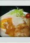 ■簡単減量■鶏むね肉☆焼肉味に温泉卵のせ