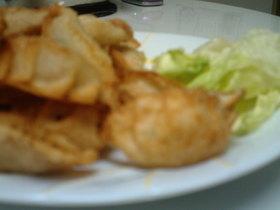 カレーポテト&鶏+梅肉の揚げ餃子