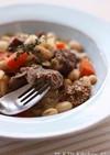 豚ホホ肉と白いんげん豆、キャベツの煮込み