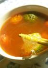 弁当おかずの残りで♪キムチ春雨スープ♪