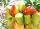 春サラダ✿アボと苺๑柚子ジャムドレ