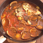 白身魚のトマトオリーブ煮