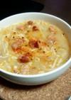 レンジで簡単節約♪モヤシとえのきのスープ