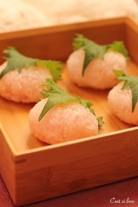 ひな祭りに♪桜餅のお寿司