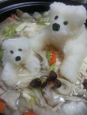 親子で可愛い白くま鍋♪