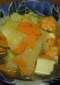 白菜と魚河岸揚げの煮物