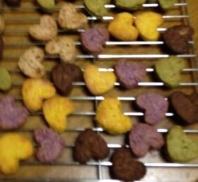 カラフルハートクッキー