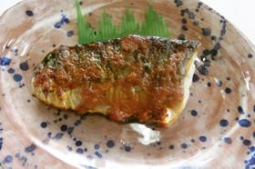 鯖の味噌マヨ焼き