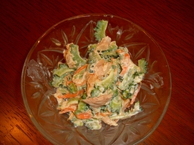 にがうりのサラダ