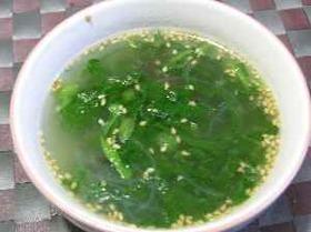 美味さが凝縮 とり皮の中華スープ