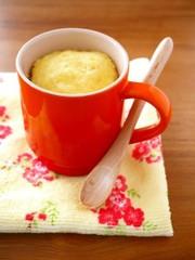 材料3つ♪レンジで簡単マグカップ蒸しパンの写真