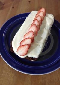 卵・乳製品なし!苺のココアショートケーキ