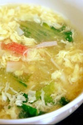 卵ふわふわ♡チンゲン菜の中華スープ