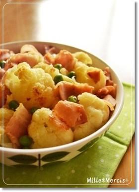 カリフラワーとベーコンの簡単☆温サラダ