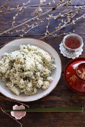 春◎ふきのとうと潤い茶葉の混ぜご飯