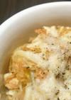 鶏胸肉とセロリのガーリックポテチ焼き