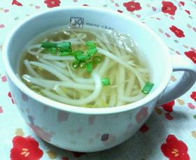 ウェルカム月末☆もやし純和風スープ