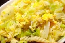 春キャベツと卵の♡菜の花畑風フジッリ