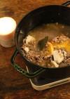 簡単◎雑穀と鶏むね肉のにんにくスープ