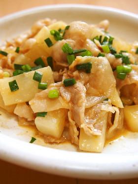 弁当に◎簡単♪豚バラと大根のオイマヨ炒め