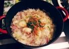 エビ団子と白菜ベーコンのミルフィーユ鍋♡