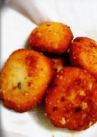簡単★パン粉と粉チーズの消費スイーツ