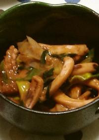 イカとニラのピリ辛マヨソース炒め