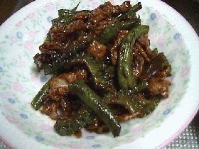 ニガウリ(ゴーヤー)の味噌炒め